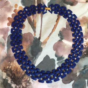 Topshop cobalt blue collar necklace